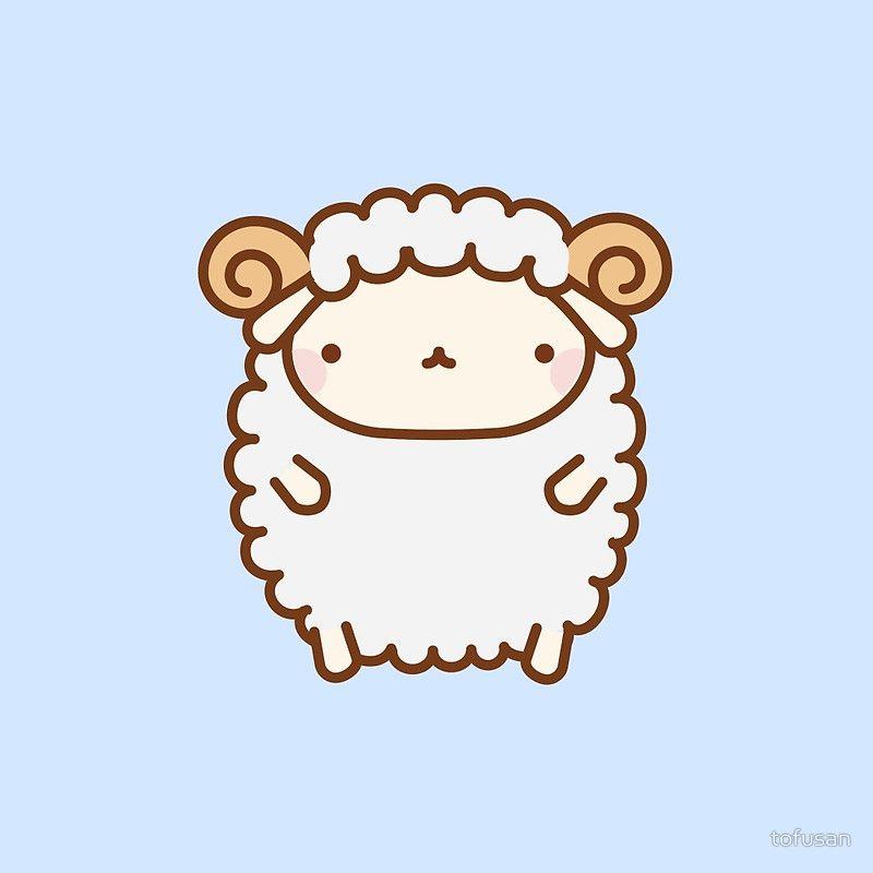 Cute Sheep Photographic Print By Tofusan In 2021 Cute Sheep Sheep Illustration Cute Drawings