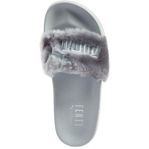low priced 057ca df67b Women's Puma Fenty By Rihanna 'Leadcat Fenty' Faux Fur Slide ...