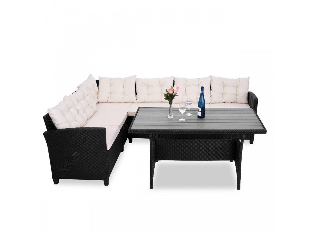 Rattan Garden Chairs Only Uk Office No Arms Modern Black Corner Sofa Wpc Table Set Now 407 99 With