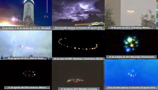 Imprecionantes OVNIs circulares en varios países del mundo | Frente Fantasma