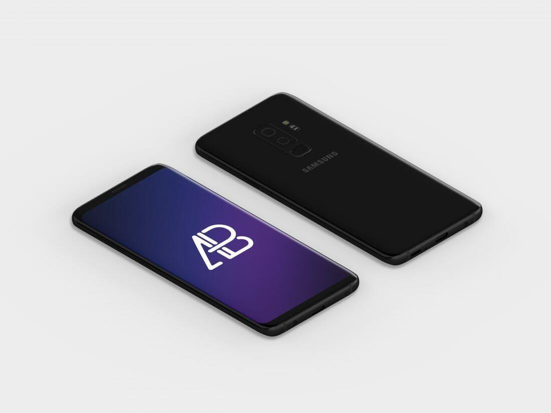 Isometric Samsung Galaxy S9 Plus Mockup   Hacks   Android