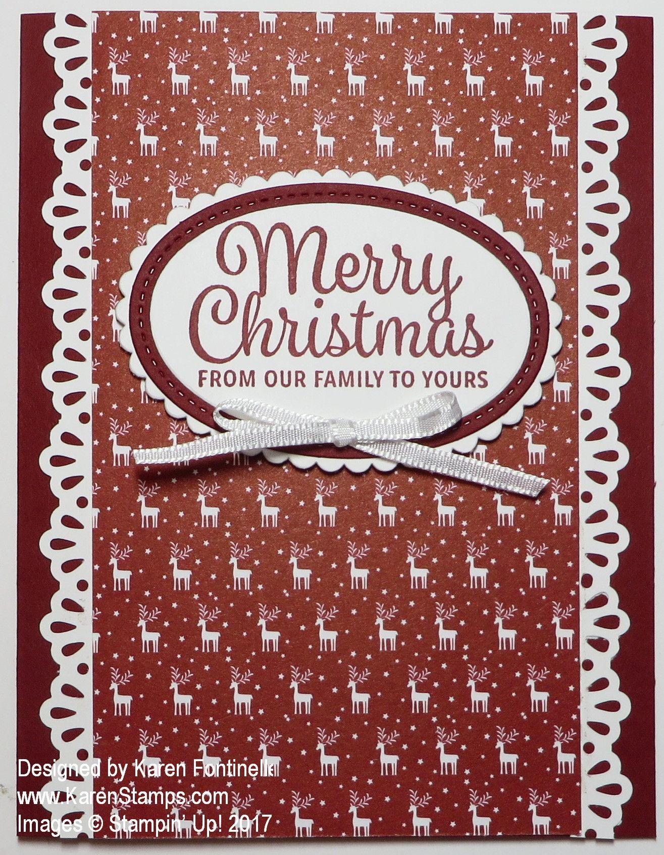 Image Result For Stampin Up Decorative Ribbon Border Punch Fun Christmas Cards Simple Christmas Cards Christmas Cards