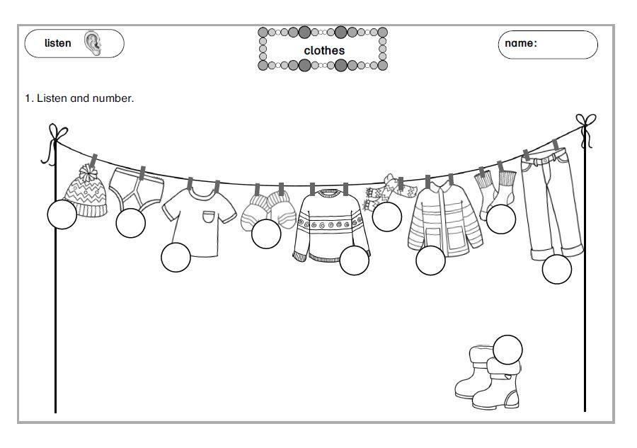 arbeitsbl tter clothes grundschule clothes winter und school. Black Bedroom Furniture Sets. Home Design Ideas