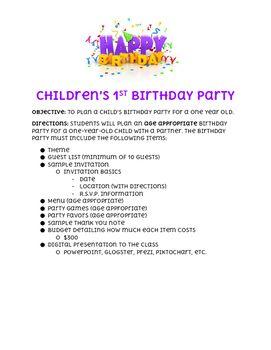 Children S 1st Birthday Party 1st Birthday Parties 1st Birthday