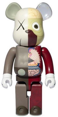 2fbf52d6 KAWS Dissected Companion Bearbrick 100% (Red/Brown), 2009 Medium: Painted  Cast Vinyl Dimensions: 3