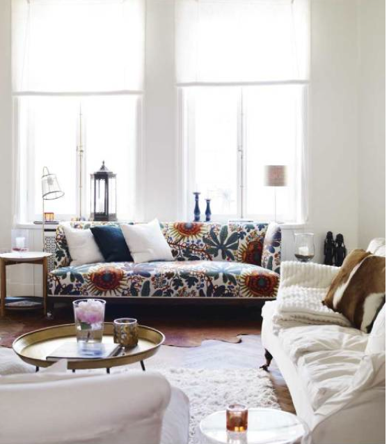 eclectic living room with a little bit of Moroccan inspiration love