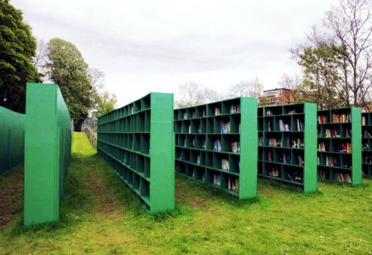 Massimo Bartolini's Bookyard is an Outdoor Library in a Belgian Vineyard | Inhabitat - Sustainable Design Innovation, Eco Architecture, Green Building