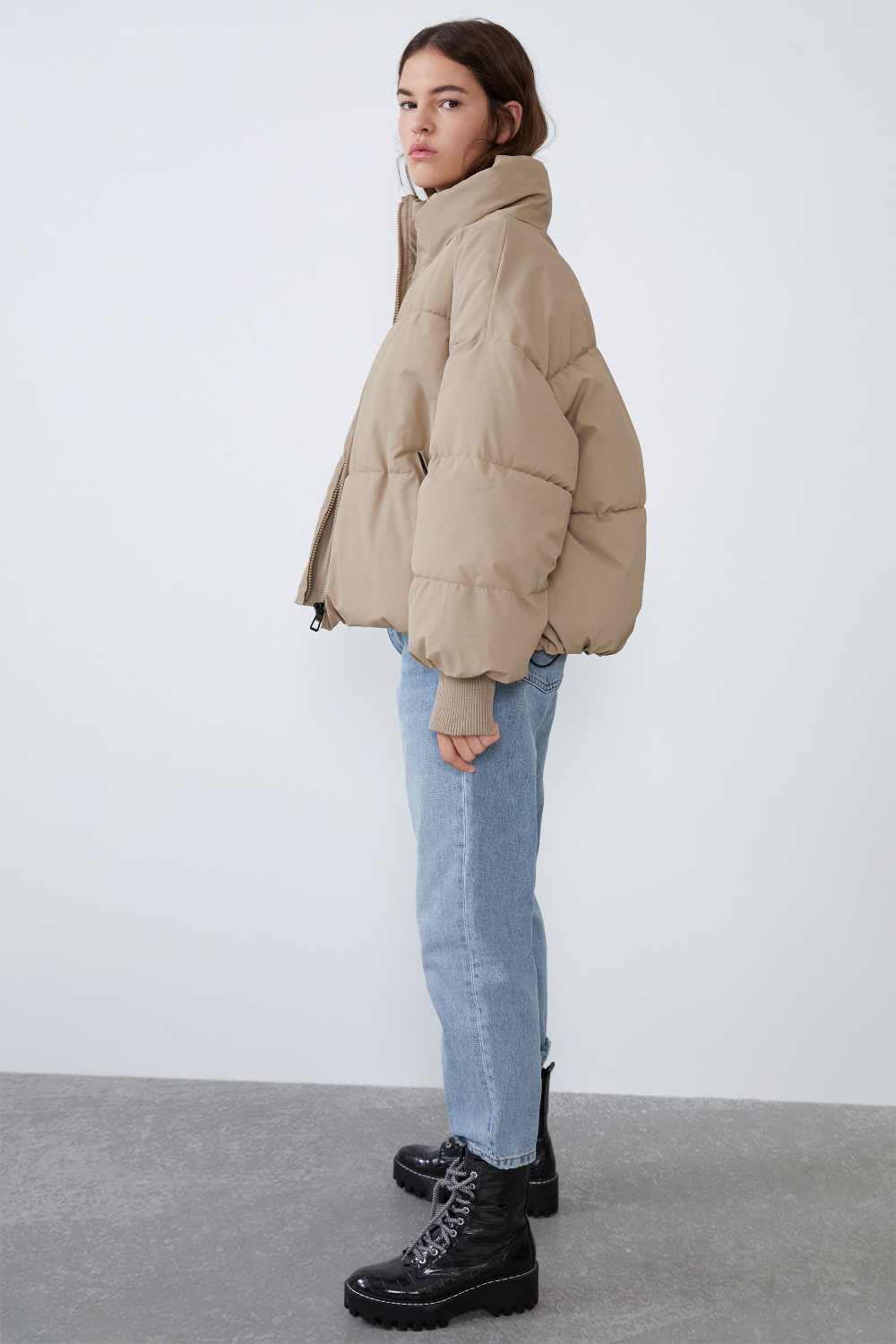 Oversized Puffer Jacket Zara United States Casual Winter Outfits Winter Fashion Outfits Winter Outfits [ 1500 x 1000 Pixel ]