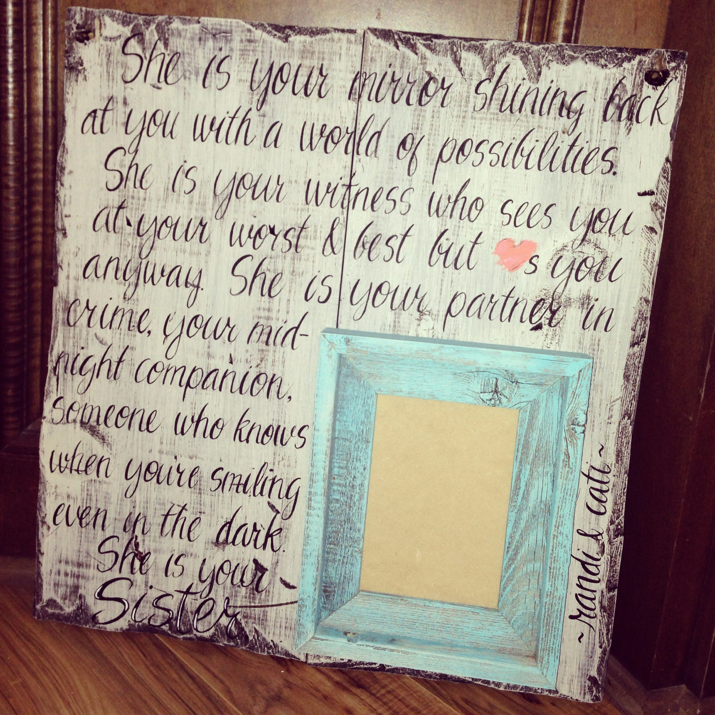 612c65ea5288 Handcrafted with picture frame built in. Great for a best friend ...