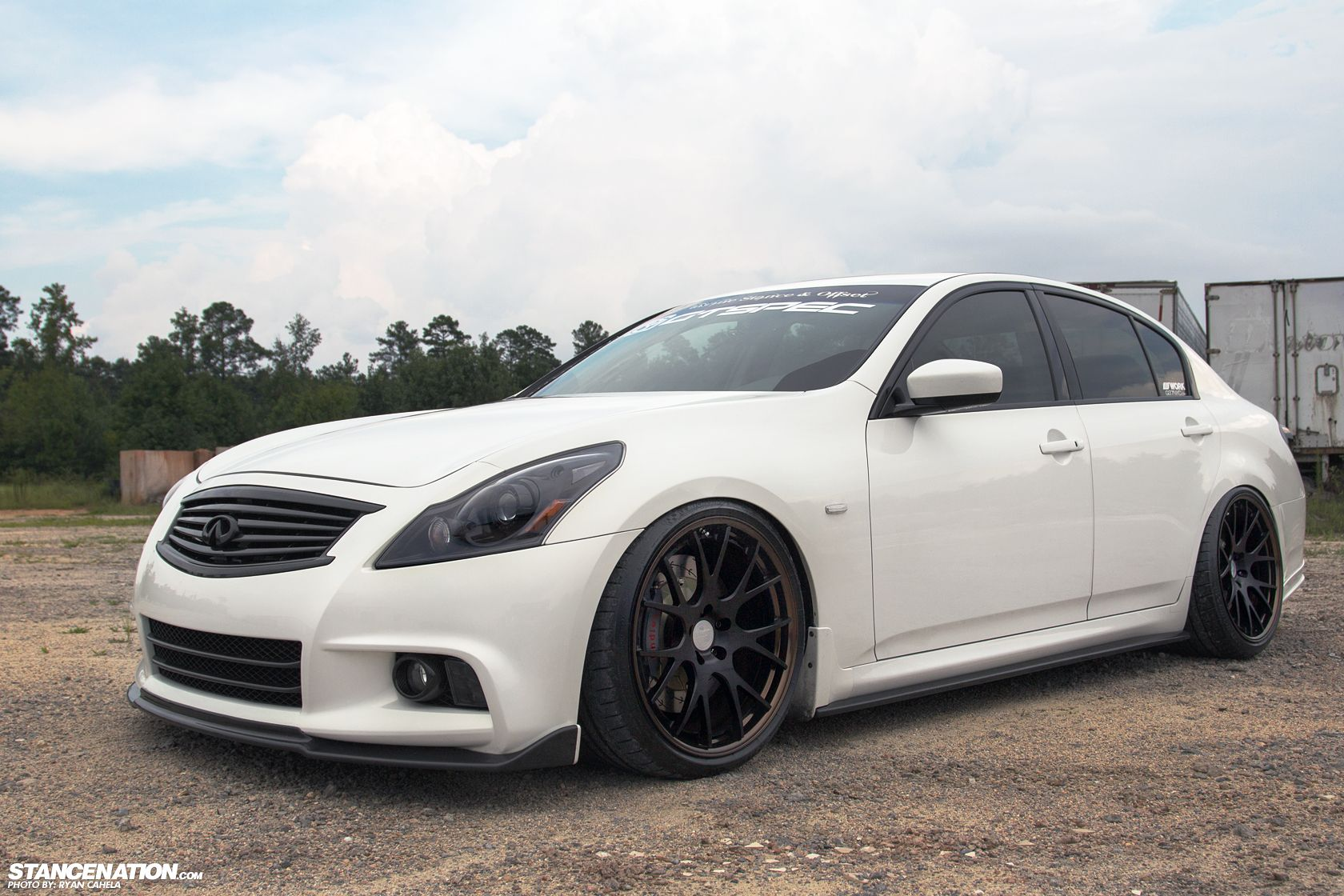 infiniti g37 white with black rims. meet layla christopheru0027s 600hp infiniti g37 sedan stancenation white with black rims