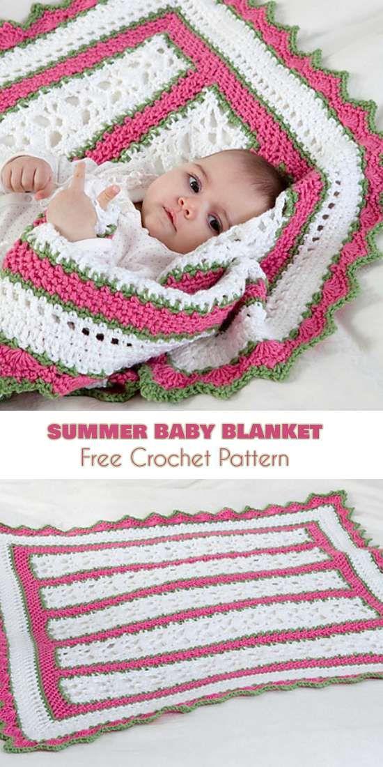 Summer Baby Blanket with Butterfly Motif [Crochet Pattern] | Crochet ...