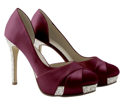 Rainbow Club Christy Wedding Shoes Dyed To Burgundy Absolutely