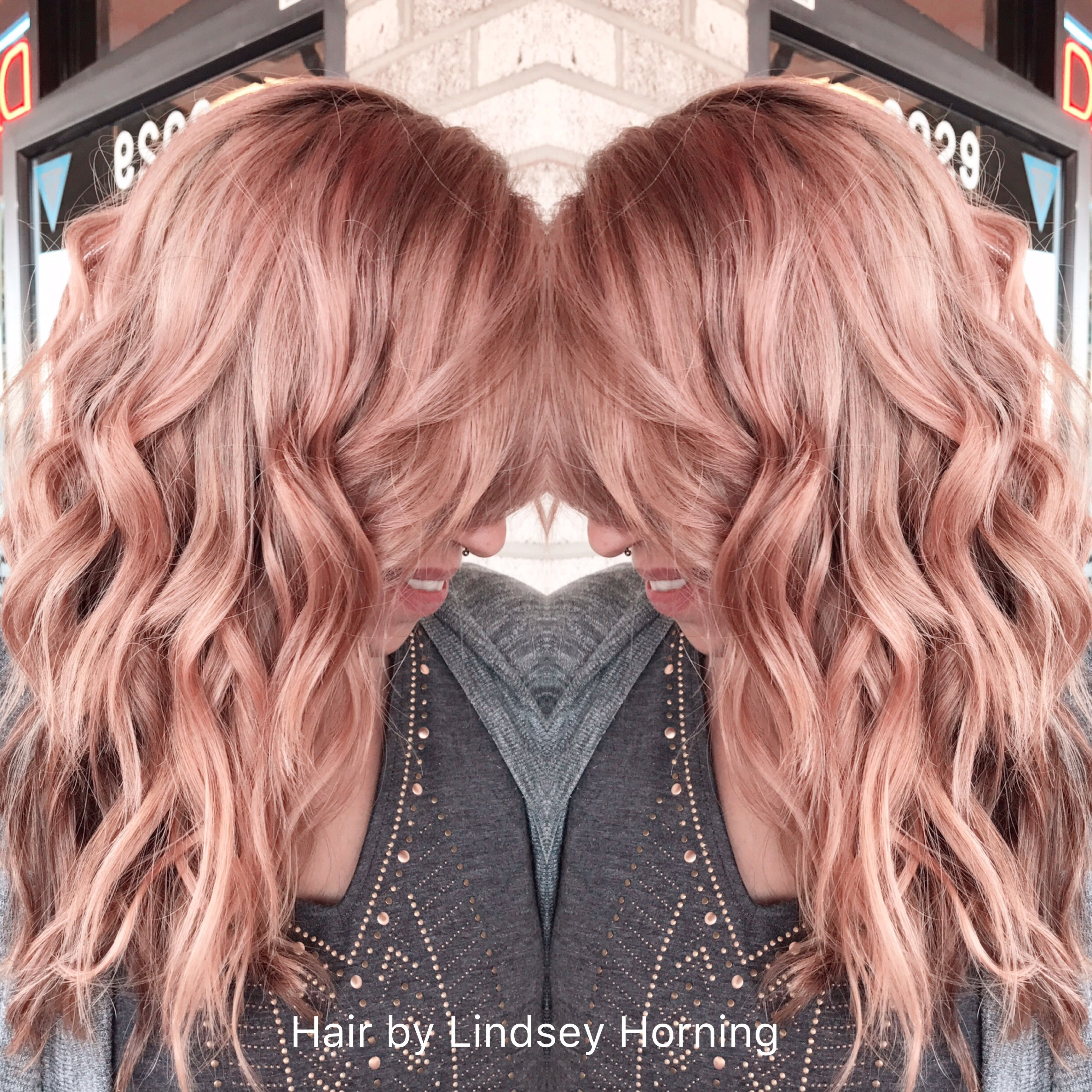 Rose gold hair color insphairation pinterest gold hair