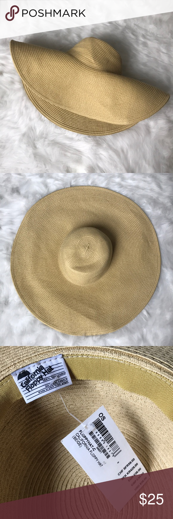 83ef1e84b97 American Apparel Floppy Hat American Apparel California Floppy Hat! NWT!  One side to other