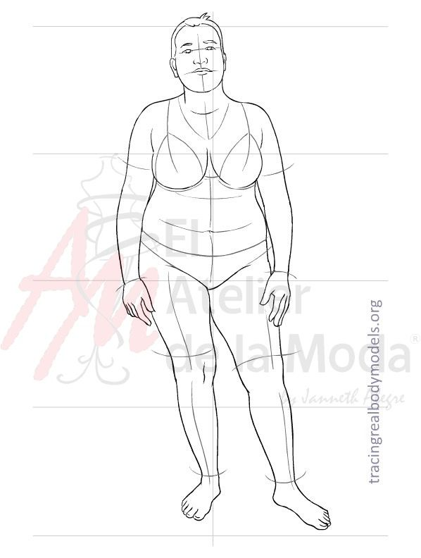This is Rommy. ❤️ print it to create your fashion designs on real bodies. Conoce a Rommy . ❤️  Imprímela para crear tus diseños en cuerpos reales.  For more information visit: www.tracingrealbodymodels.org