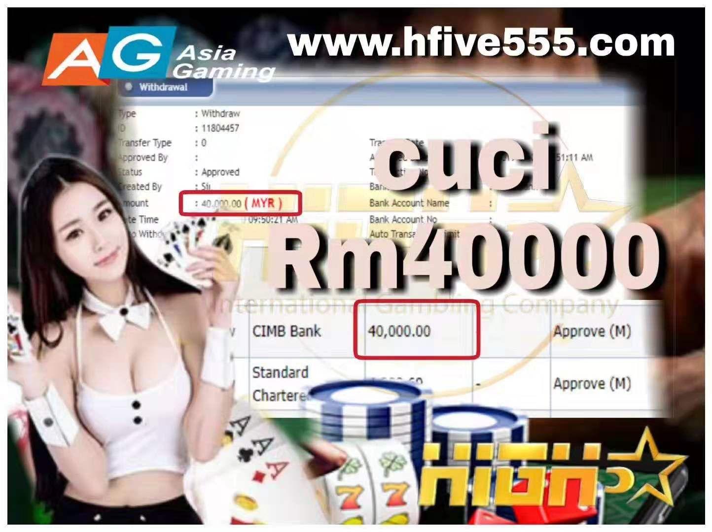 ASIA GAMING    Live BACCARAT, Live Casino   Tahniah boss cuci Rm40000  Nak cuba luck cepat register dlm website kita ✅ 5Times withdraw limit ✅ Max withdraw up to Rm50000 #百家乐#轮盘#4d#roulette#baccarat#onlinecasino#sgonlinecasino#sbobet#poker#sportbook#casino malaysia#mega888#joker#toto#magnum4d#jackpot#pussy888#greatwall#bonus#rebate#turnover#slot