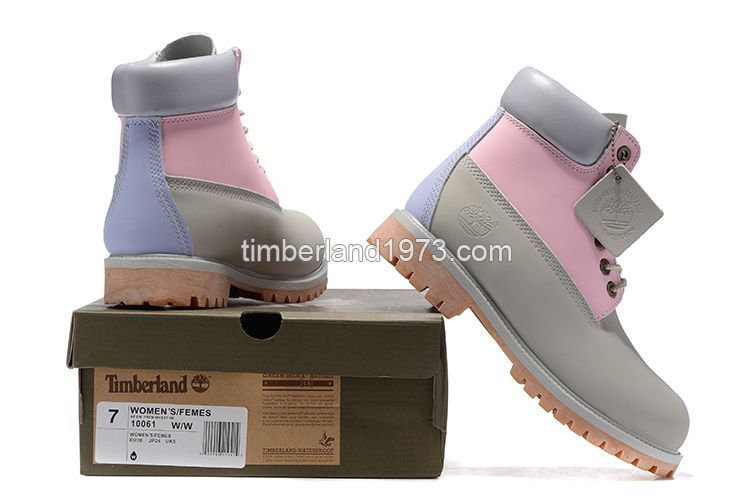 00053ffdde5 2017 Fashion Timberland Women 6 Inch Boots In Pink Grey Purple ...