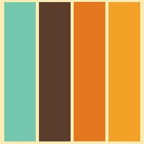 1970 S Color Palette Retro Stripe Pattern Photographic Print By Mikhail Siskoff In 2020 Vintage Colour Palette Retro Color Palette Color Palette Design
