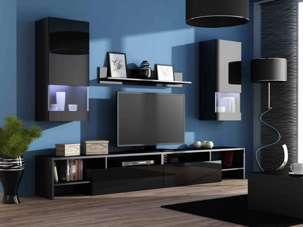 Living Room Furniture Set option Lights | TV Stand & Display Cabinet ...
