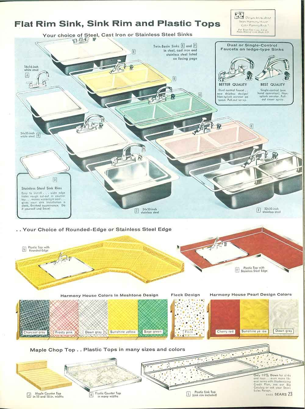 1958 Sears kitchen cabinets and more - 32 page catalog ...