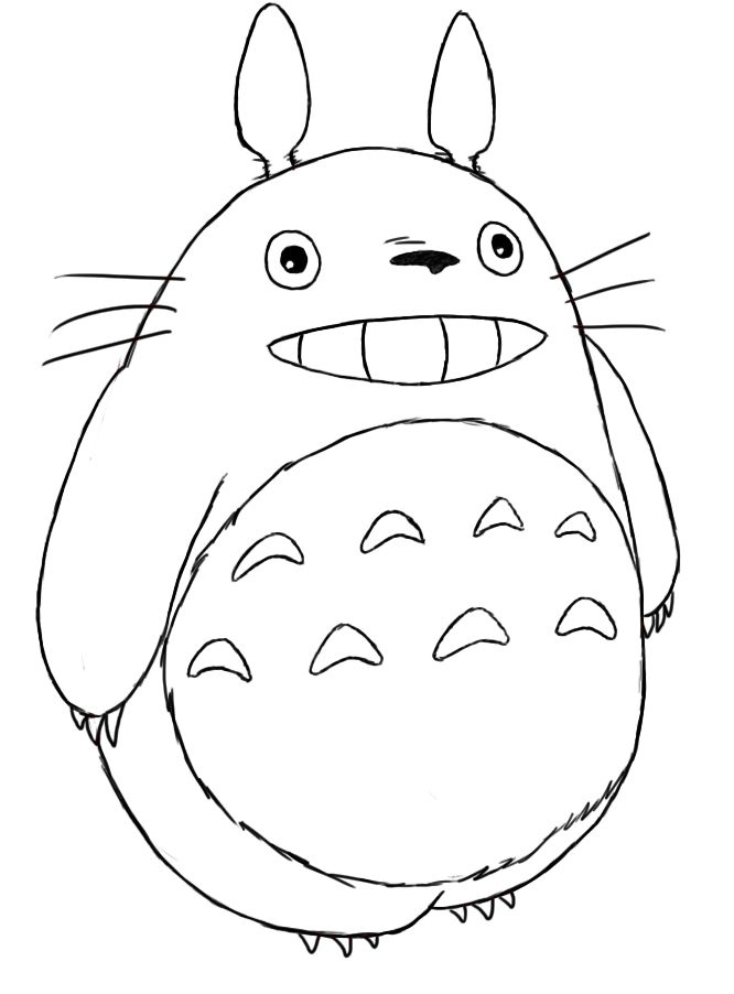 free coloring pages totoro popular japanese | How To Draw Totoro | Totoro drawing, Totoro, My neighbor ...