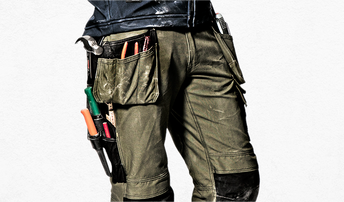 Did you know we invented #holsterpockets? Yes, this #classic feature was our #invention and it revolutionised workwear. Can you imagine not having holster pockets?!