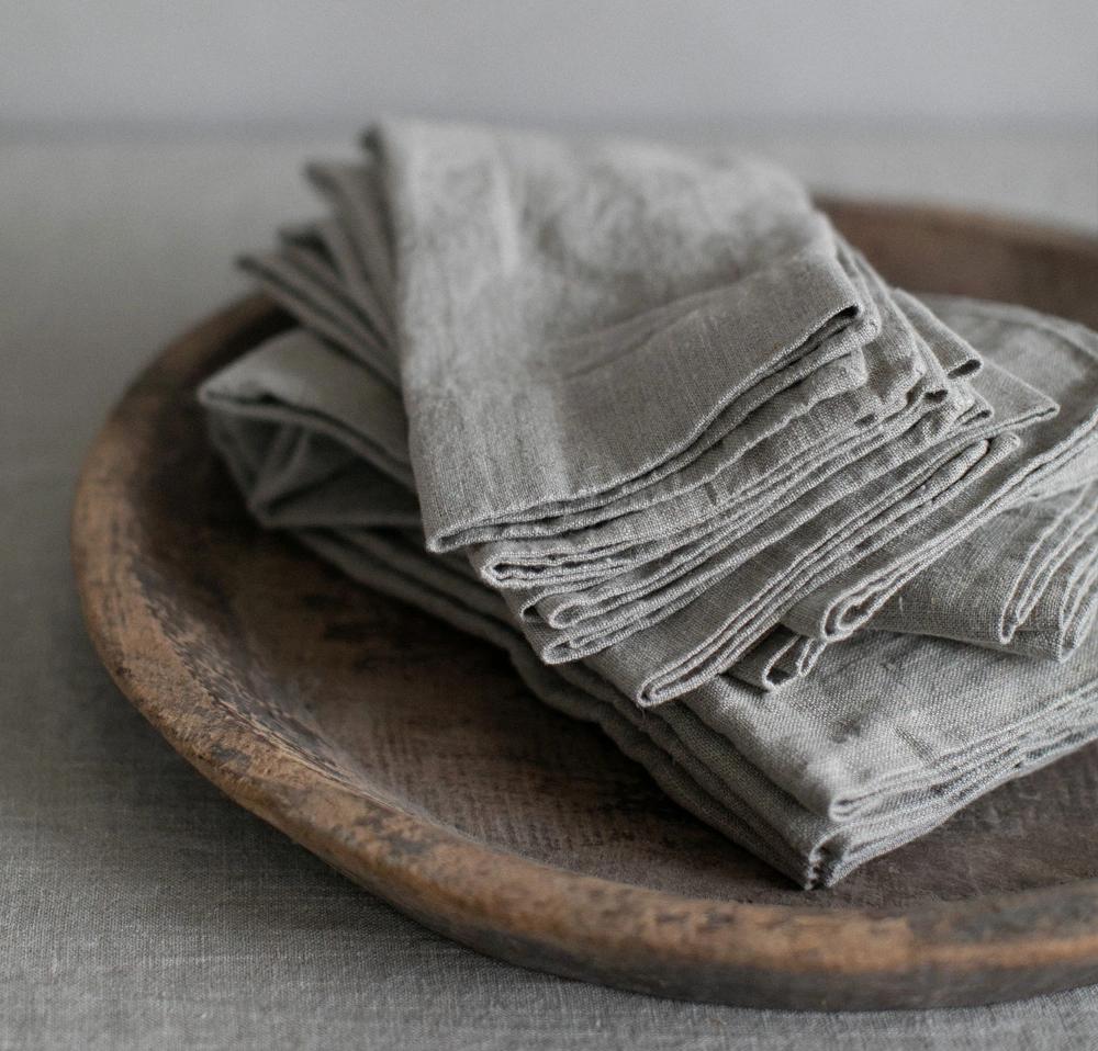 Orkney Linen Napkin Linen Napkins Rough Linen Napkins