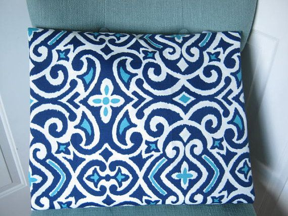 Navy And Teal Throw Pillows: Geometric Outdoor Pillow Cover Navy Teal Patio Porch Home