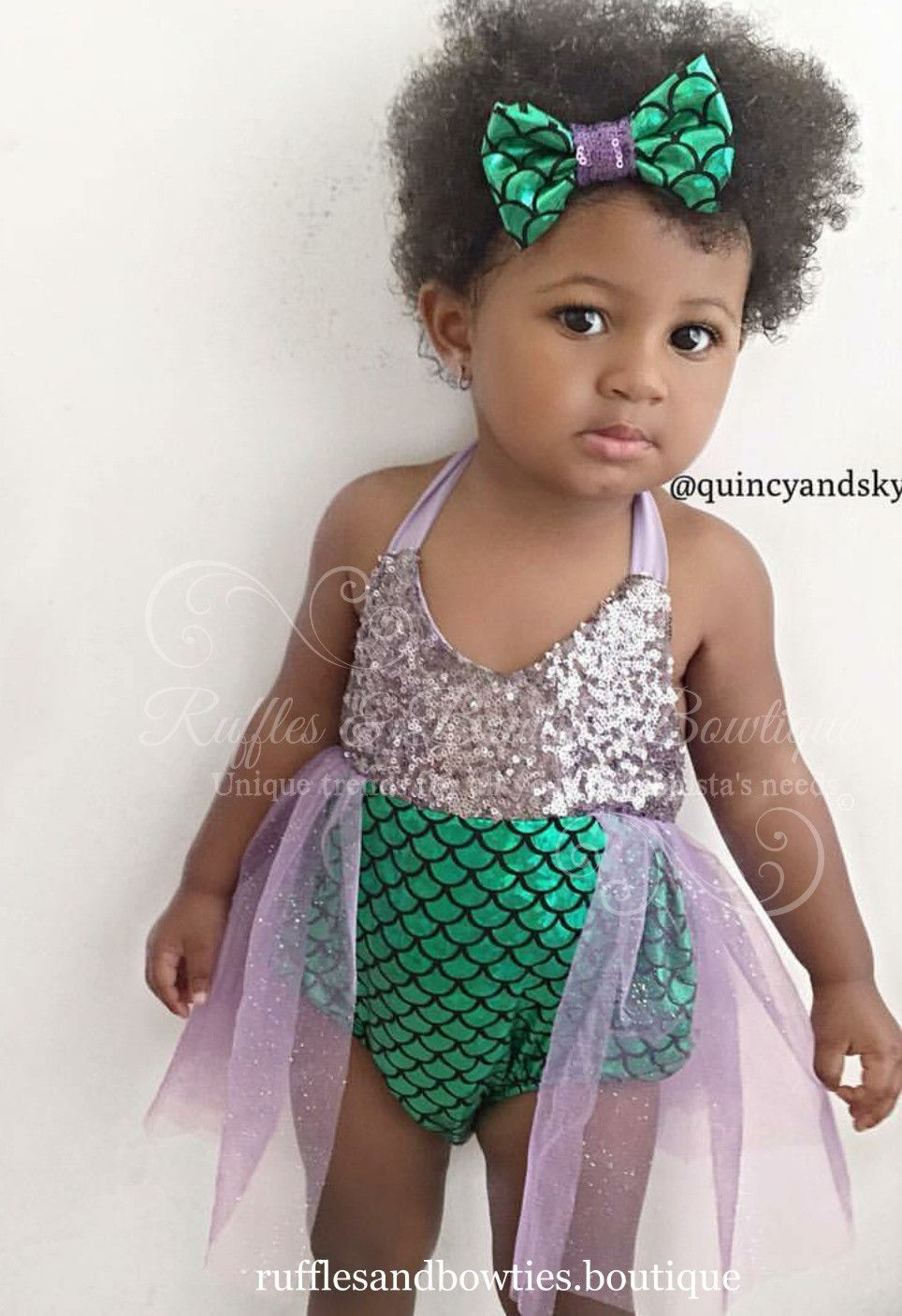 60059caf3038 A little glitz and glam for your favourite little mermaid. This romper is  absolutely precious with its Lilac sequin top and shimmering mermaid  bottoms.