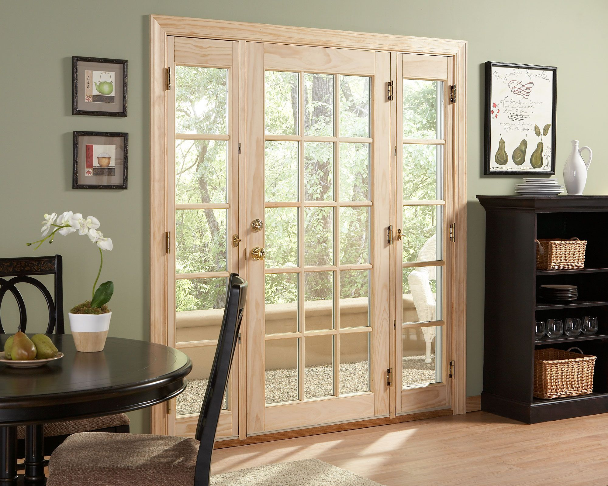 Ashworthr Patio Door With Venting Sidelites By Woodgrain Millwork