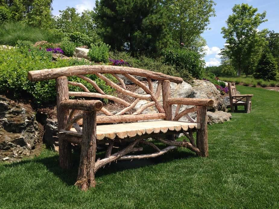 15 Awesome Rustic Wood Garden Bench Ideas