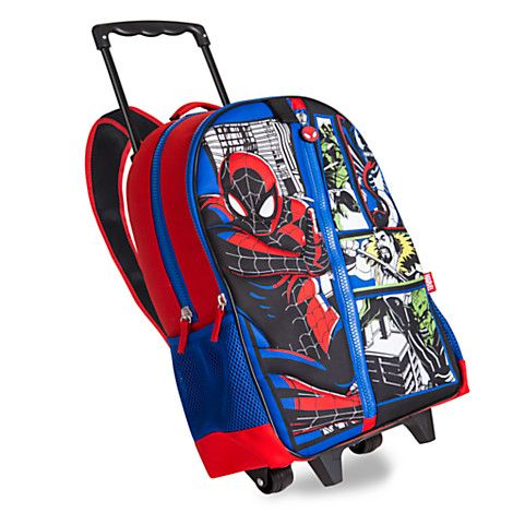 Spider-Man Rolling Backpack - Personalizable | Disney Store ...