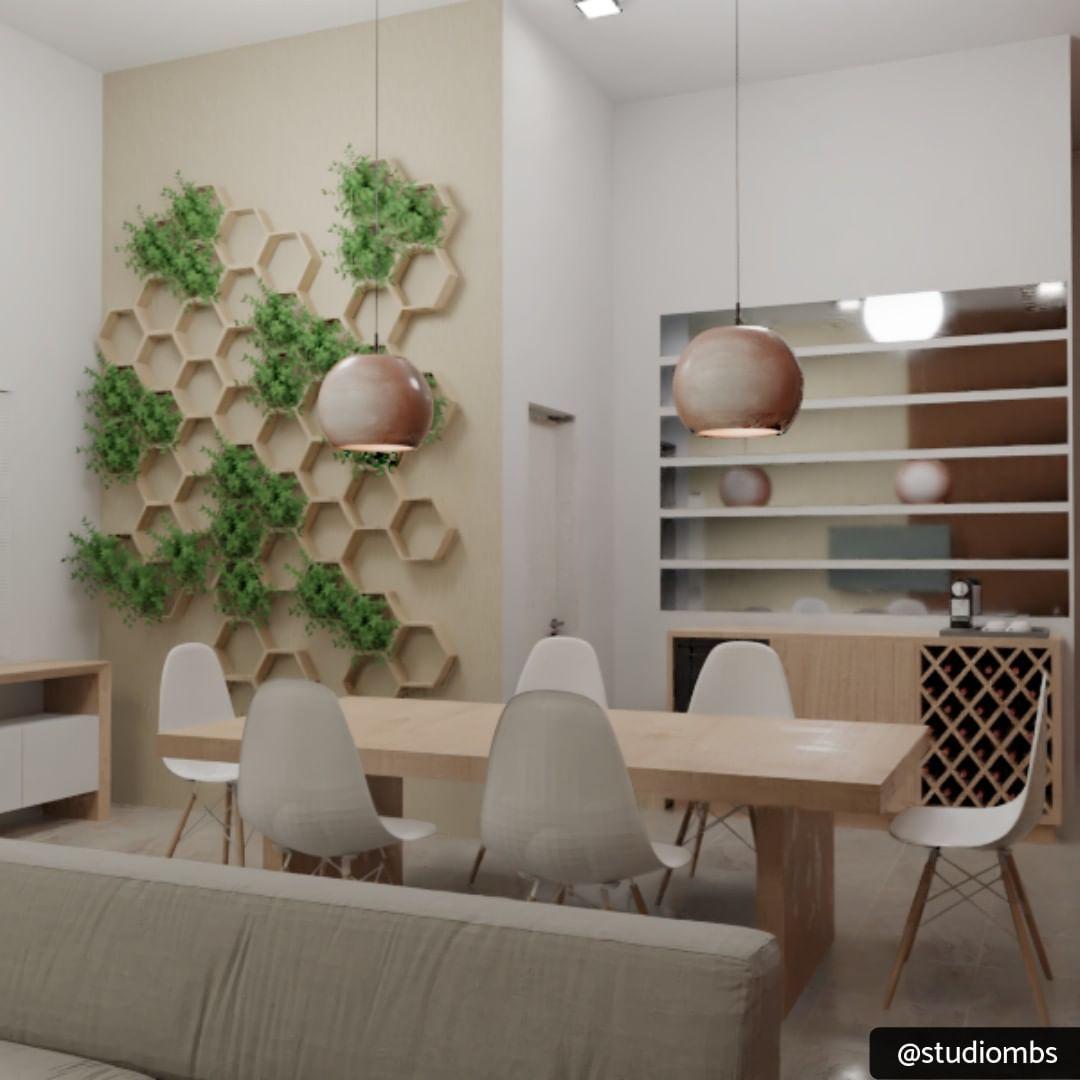 Sala De Estar Integrada Com Sala De Jantar Espelho Decorativo