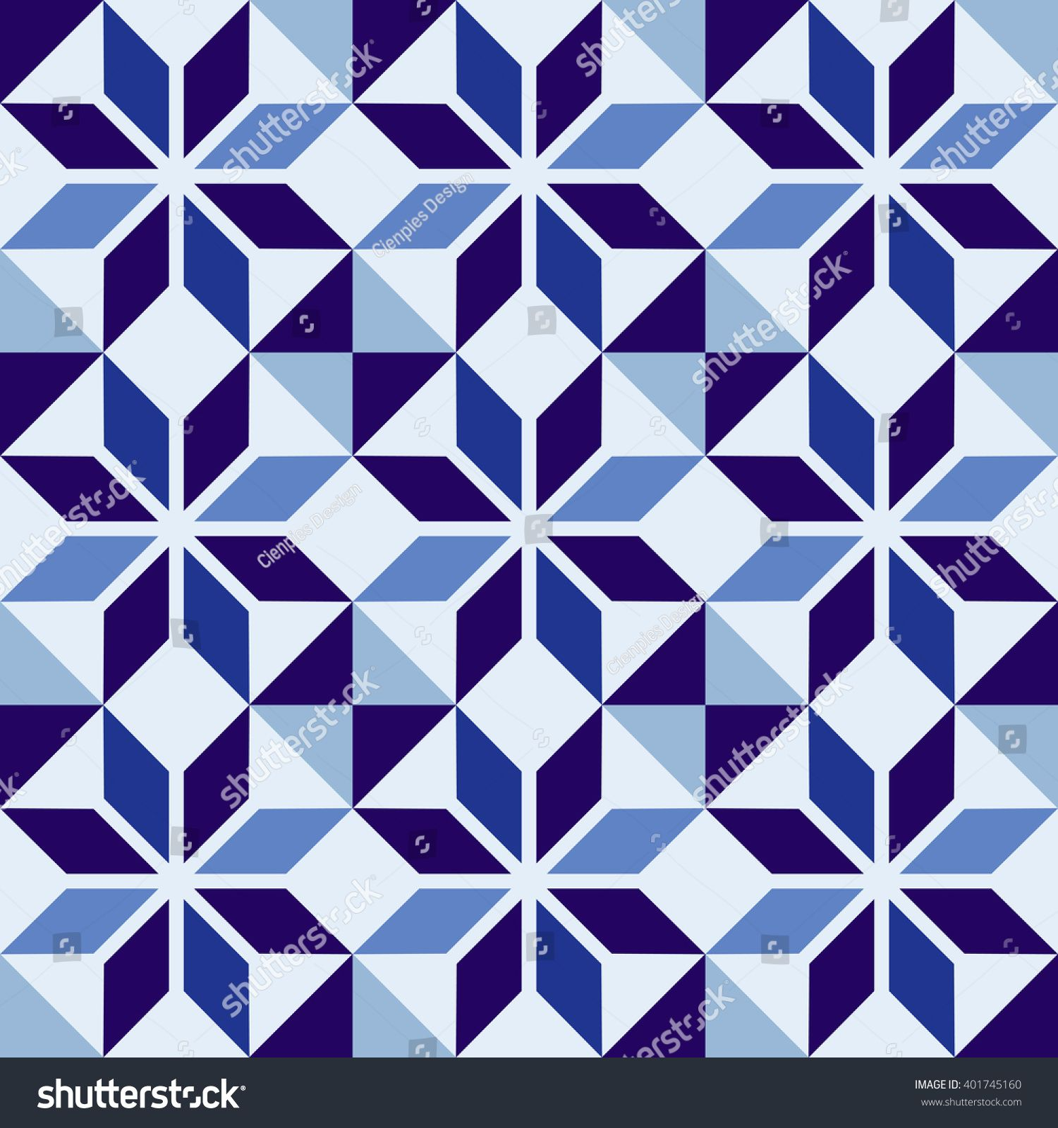 Classic Ceramic Mosaic Tile Seamless Pattern With Abstract