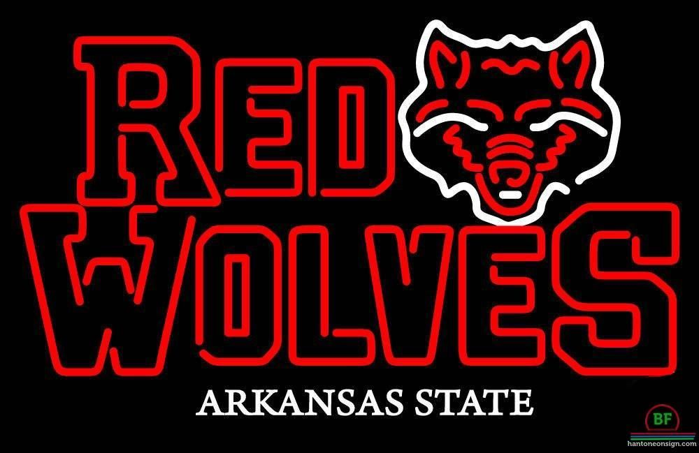 Arkansas State Red Wolves Neon Sign NCAA Teams Neon Light