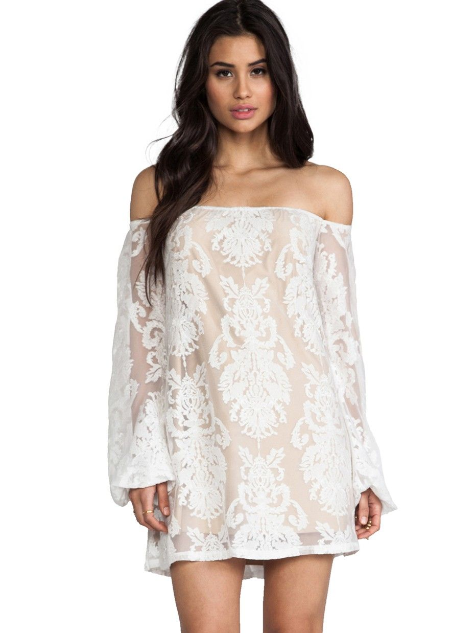 Posh girl victoria white embroidered lace dress stuff to buy