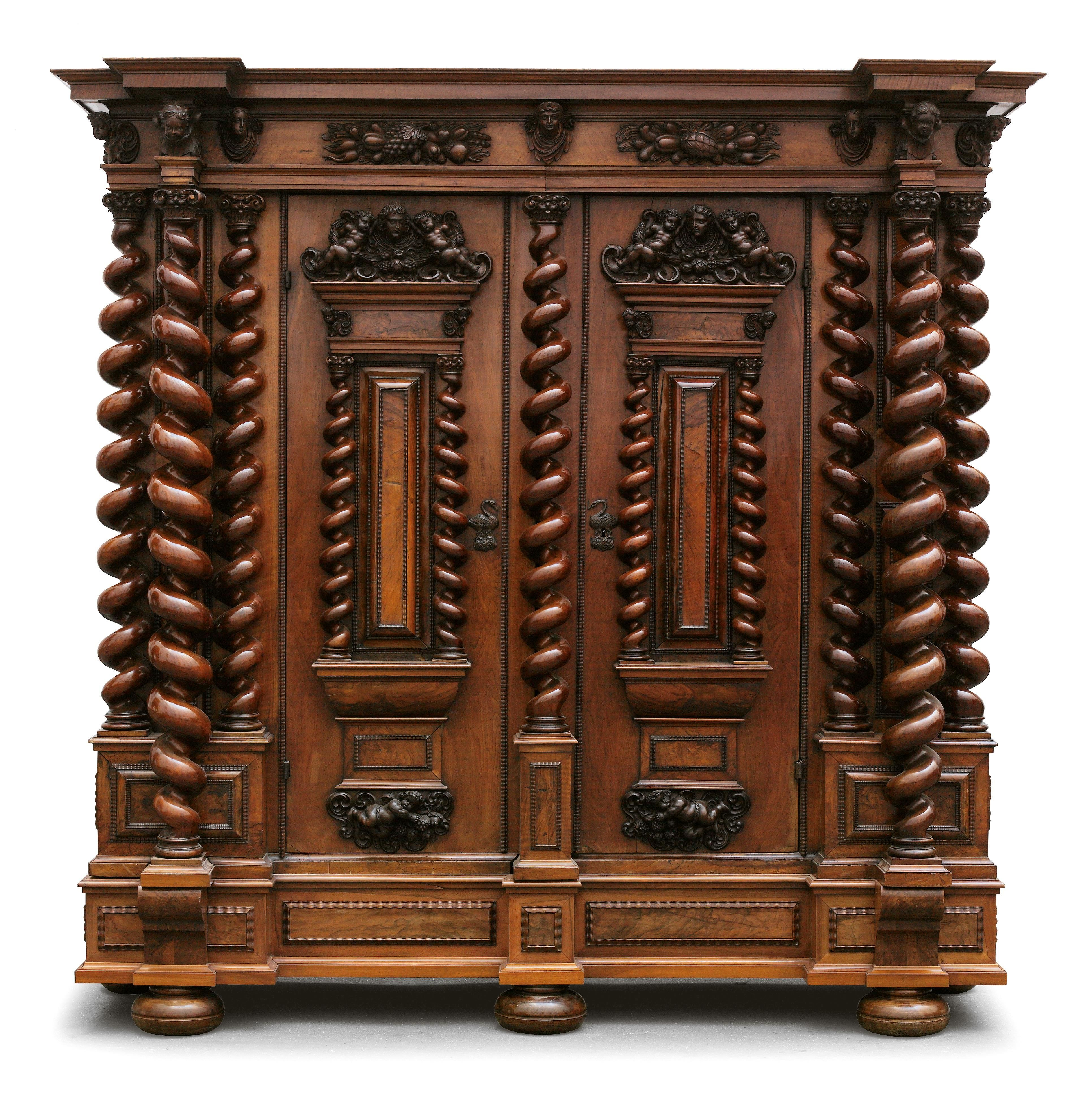 Museum Quality Early Baroque Hall Cupboard In The Style Of The Swiss Cabinet Maker Johann Heinrich Keller B In 2020 Baroque Furniture Art Furniture Carved Furniture