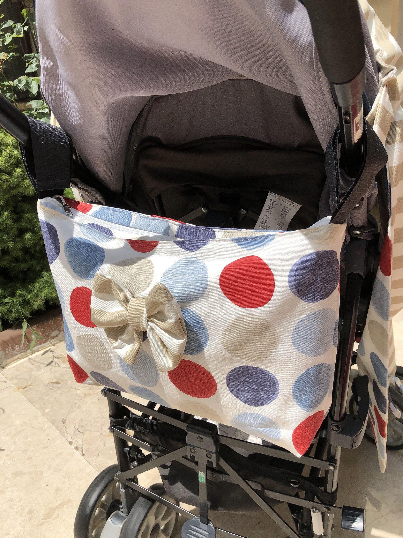 Baby Stroller Bag, Stroller Organizer, Handmade