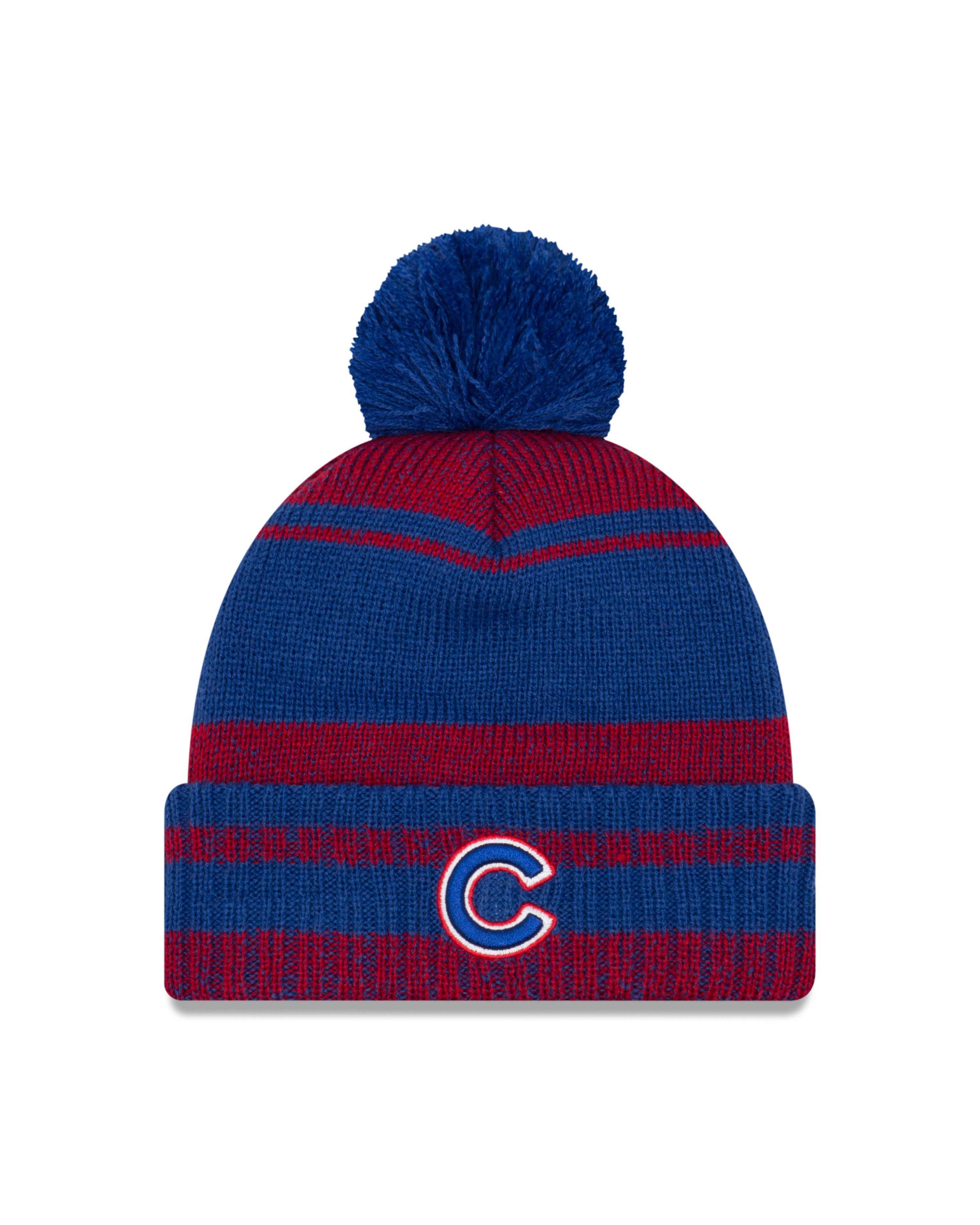 ce1aa5caca8eb0 Men's Chicago Cubs Glacial Pom Cuff Knit Hat By New Era | Products ...