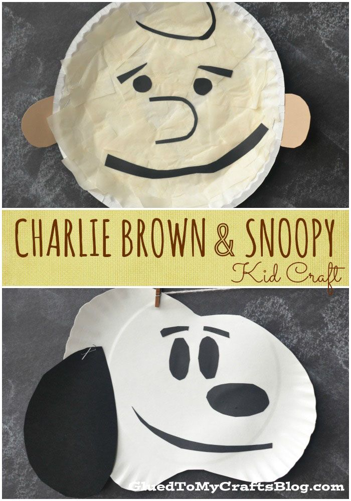 Charlie Brown & Snoopy {Kid Craft} | Charlie brown, Actividades ...