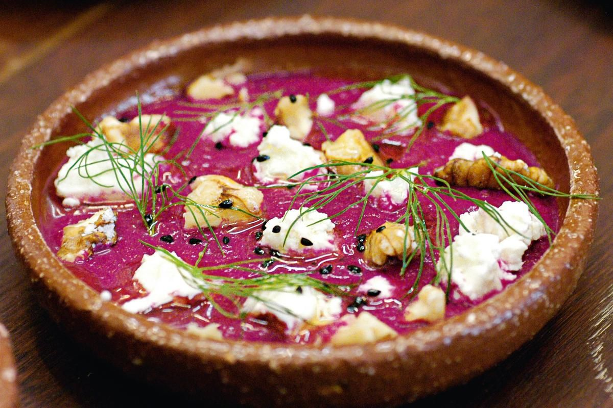 Beetroot Borani. Borani, the Iranian yoghurt dip, is an opulent dish for the senses: delectable, visually stunning and guaranteed to win over the hearts of beetroot sceptics.