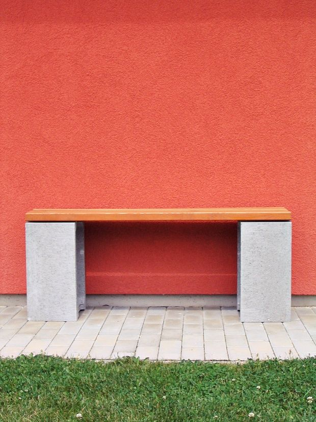 Beton & Holz, Tags Garten, Beton-Holz-Bank