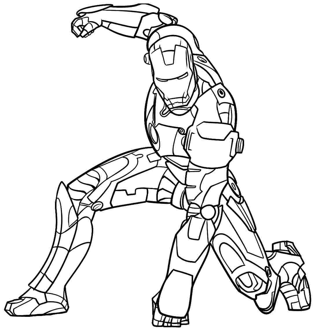 Iron Man Coloring Pages Lego