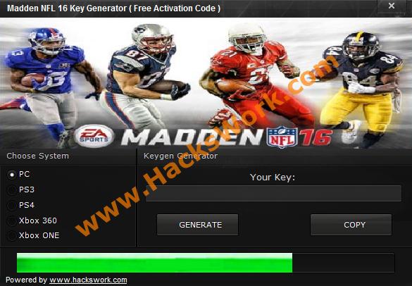 Madden Nfl 16 Key Generator Free Activation Code Www Hackswork Com Madden Nfl Nfl Madden