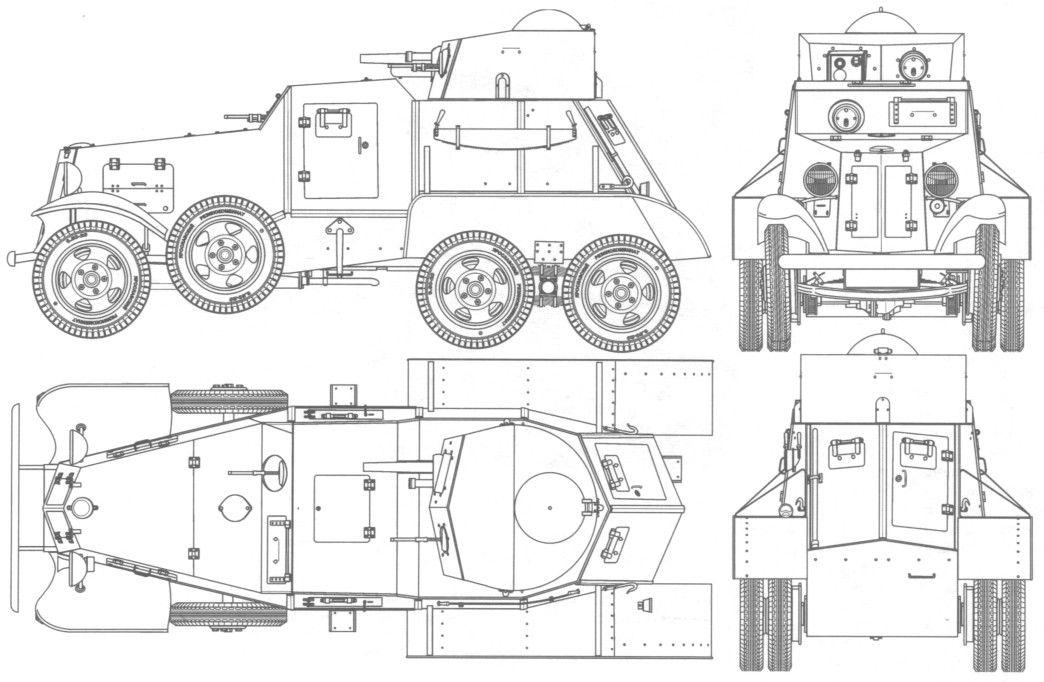 BA-i' Sovier medium armored car , 1933 | Война
