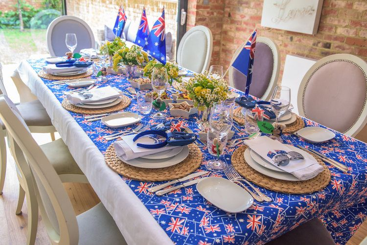 Australia Day Party Table Setting Ideas And Inspiration Nicole O Neil Australia Day Celebrations Australia Day Aussie Christmas