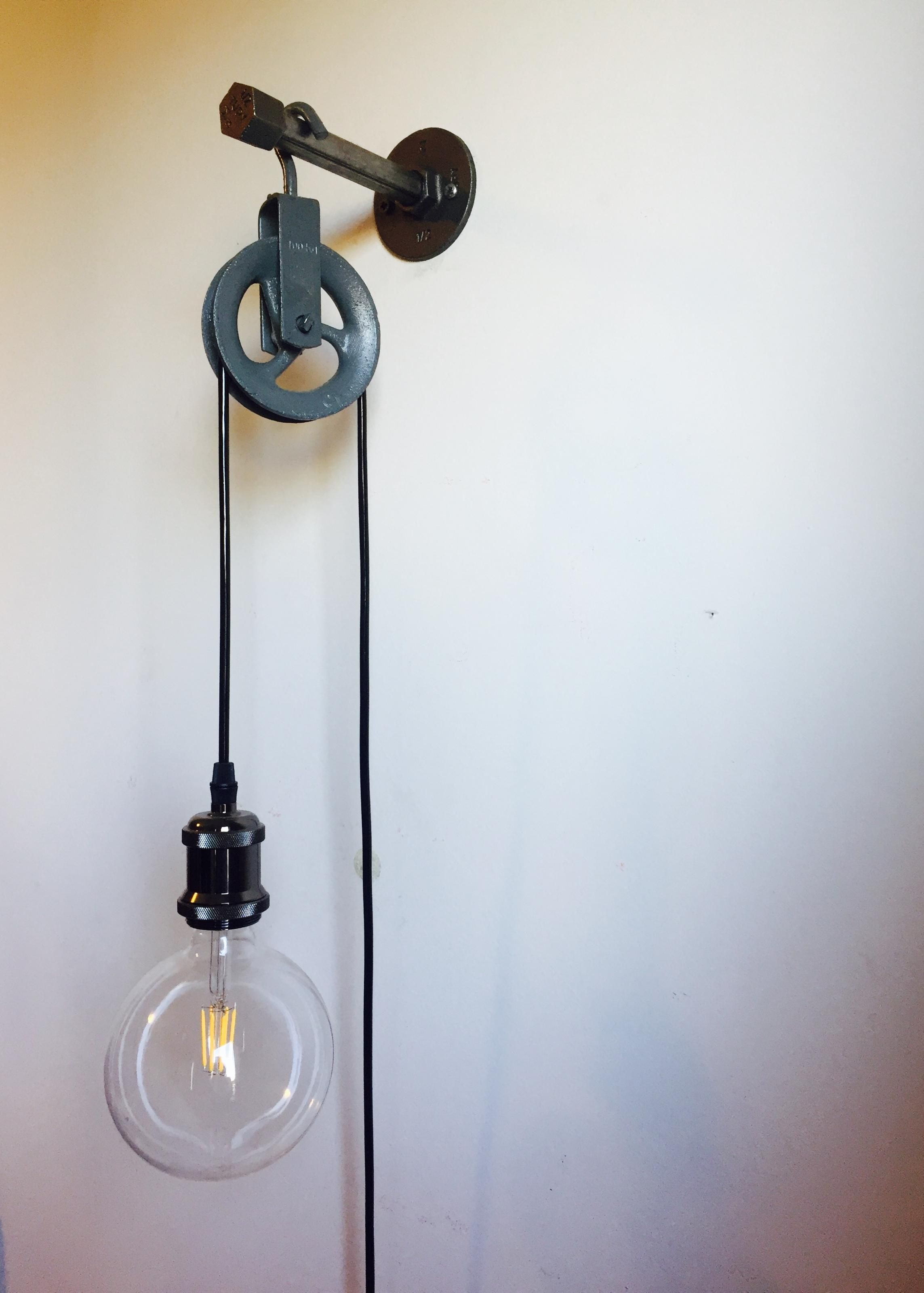 Pulley lamp in 2020 Pulley lamps, Cute room decor, Decor