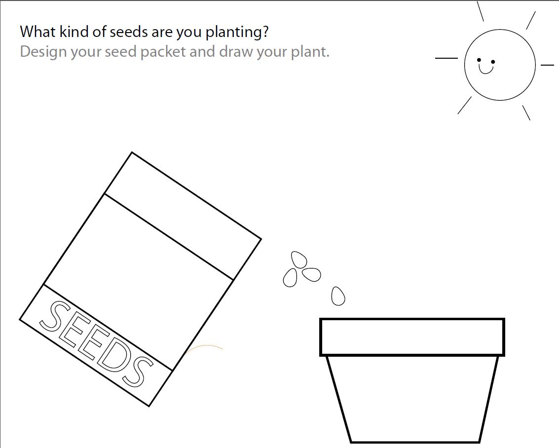 Free plant worksheet   Free seed worksheet   Paper and the Pea   Plants  worksheets [ 908 x 1133 Pixel ]
