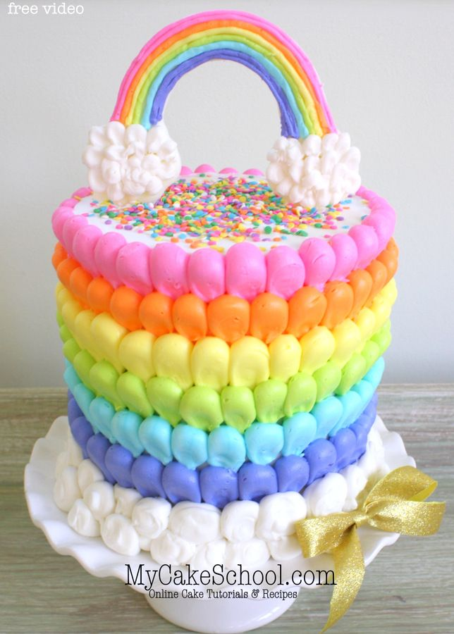 A Roundup Of Rainbow Cake Tutorials With Images Rainbow Cake