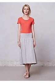 Anthropologie Spectral Midi Skirt by Saturday/Sunday Grey Women's Skirts